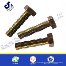 trade assurance Astm standard zinc finished A307 hex bolt