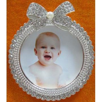 Portafotos bebé encantador redondo
