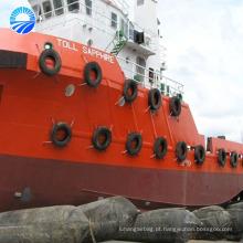 Airbags de levantamento de flutuação de borracha naturais do navio do pontão
