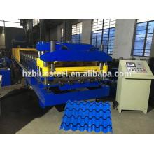 Farbe beschichtet Galvanisiert Stahl Aluminium Dachdecker Metcoppo Schritt Fliesen Roll Umformmaschine, Qualität Schritt Fliesen Rollformer zum Verkauf