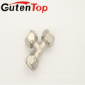 Guten top lead free brass compression 1/2 inch BSP thread Tee pipe fittings