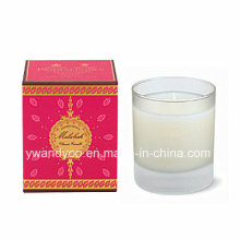 Scented Frosted Glass Jar Candle with Gift Box