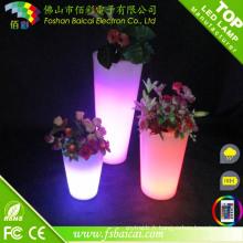 Décoration de fête d'événement de mariage Changement de couleur LED Flower Pot