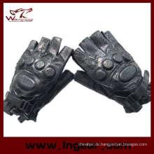 SWAT Armee halbe Finger Airsoft Paintball Lederhandschuhe