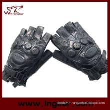 SWAT armée demi doigt Airsoft Paintball gants en cuir