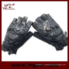 Спецназ армии Половина Finger Airsoft пейнтбол кожаные перчатки
