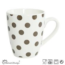 Porcelana blanca 10oz con la taza de café completa de la calcomanía