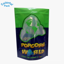 Individuell bedruckter Mylar Standup Alufolie Ziplock Popcorn Tasche