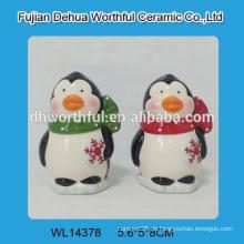 2016 schöne Pinguin entworfene Keramik S & P Shaker für Küche