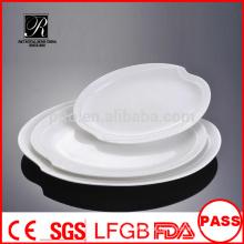 Fabricante porcelana / cerâmica serviço de banquetes prato placa de peixe placa de carne placa oval