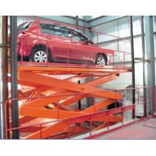 Stationäre hydraulische Hebebühne für Autos, Scherenhub aus Edelstahl