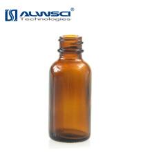 Venta al por mayor de botellas de vidrio ambar vacío redondo 30ml