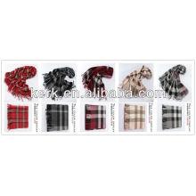 2013 Großhandel Mode überprüft 100% Wolle Shawls, W3009