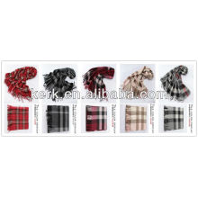2013 Wholesale Fashion Checked 100% Wool Shawls,W3009