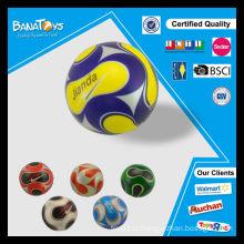Grande diversão para a criança soft play ball 3 polegadas pu espuma stress bola