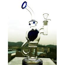 Großhandel neueste tragbare Glasrohr, kleine Recycler Wasser Glas Rohr