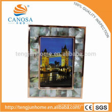 Eco Friendly Abalone Paua Shell Frame Photo with Golden Edge
