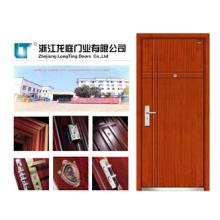 Porte blindée en bois en acier avec certificat CE