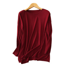 Women's wide boat neck pullover sweater 100% cashmere cables knitting sweater solid color loose sweaters