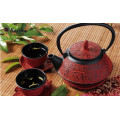 1.0L SCARLET BLOSSOM CAST IRON TEAPOT SET FOR 2 PERSON