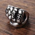 US hot sale Locomotive boyfriend fist skull ring