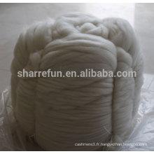 Cachemire mongol blanc naturel 16,5mic / 44mm