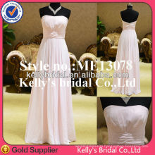 ME13078 Pink without beading and lace eveing dress