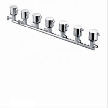 Manufacturer 7 Function standard bath mixer taps brass shower panel faucet