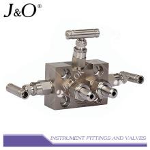 Válvula de instrumentación de 3 válvulas de acero inoxidable