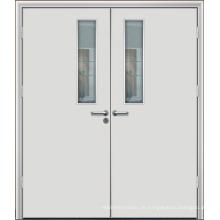 Hohe Produktions-Hauptdoppeltes Blatt-Tür, hölzerne Feuerschutztür der hohen Qualität
