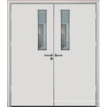 Portes intérieures françaises doubles, porte intérieure en bois de chêne