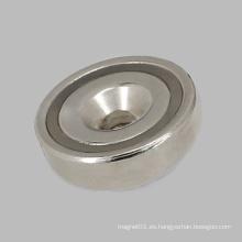 Maget de base redonda recubierta de níquel con agujero avellanado