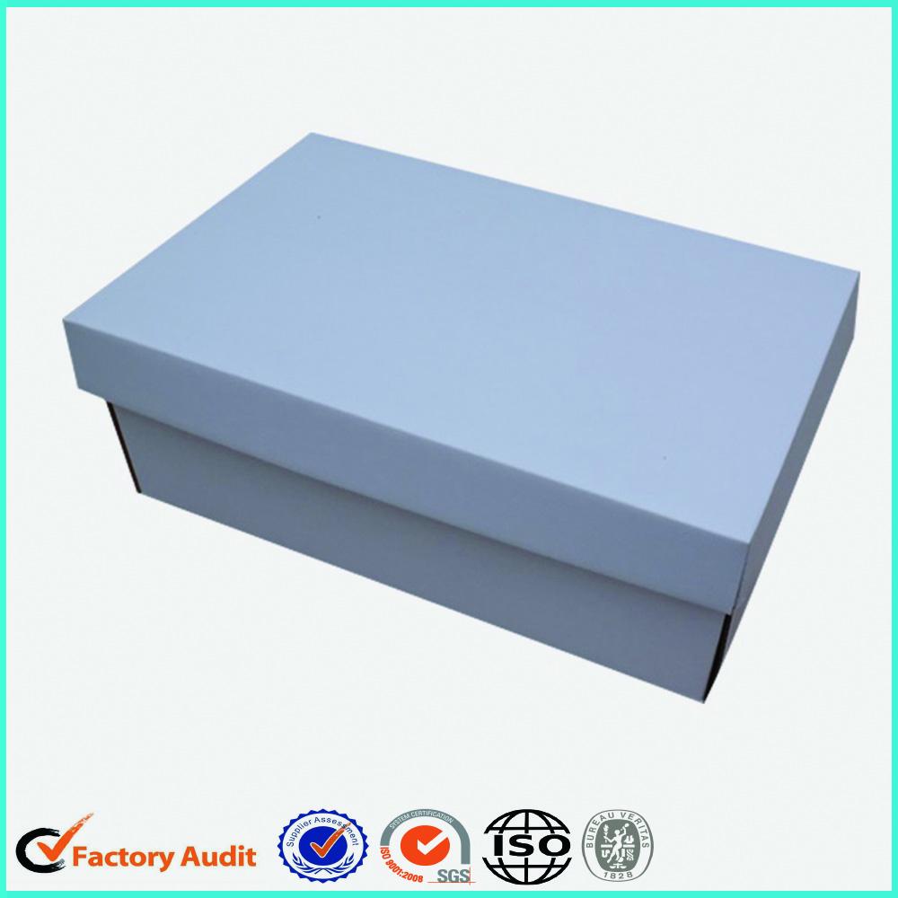 White Cardboard Foldable Shoe Box