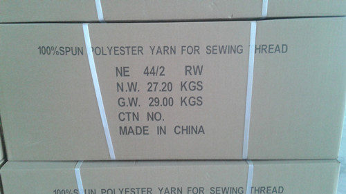 44s2 polyester yarn marks