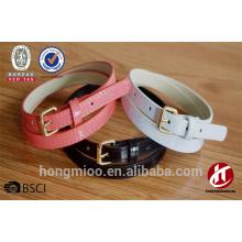 Skinny patent leather belt roller buckle cool children belts