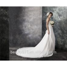 Оболочка без бретелек суд поезд кружева-up шифон вышивка кружева Кристалл свадебное платье AS29302