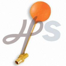 válvula de bóia de latão com bola de plástico