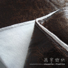 Poliester cuero tela 100% poliéster para sofá