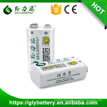 23F6-220 NIMH 9V 280mAh Rechargeable Battery For Rechargeable Microphone