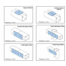 Strut canal 41x41 & 41x21 máquina de formação de rolos