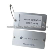 Etiqueta de identificación de equipaje metálico