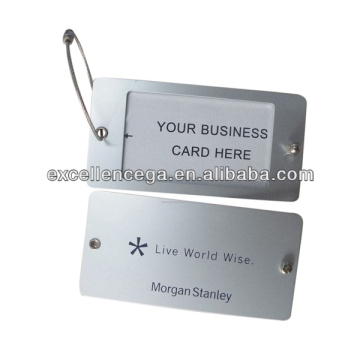 Tag de identificação de bagagem de metal