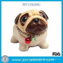 Adorável Cão Cerâmica Dom Artesanato