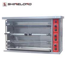 Rôtissoire de gaz de qualité d'acier inoxydable avec la rôtissoire de gaz de 3 couches de capacité de la CE pour des poulets