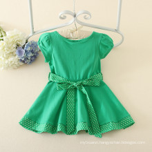 2016 Pretty Little Girl Green Summer Beach Princess Dress With Candy Colors Kids Dress