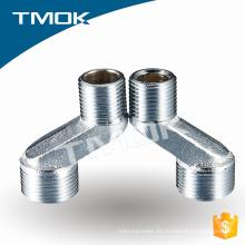 junta de doble tubo de rosca interna de níquel latón