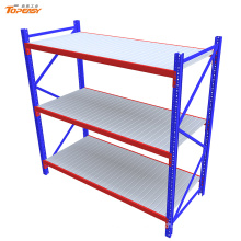 Powder coated steel boltless shelves heave duty for warehouse