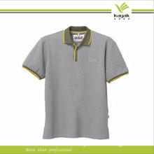 Grey Short Sleeve Pique Cotton Business Poloshirt for Man Office Cub Golf (P02)