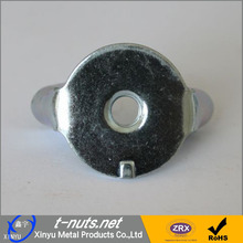 Zinc plated steel stamp wing nuts