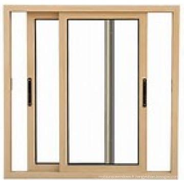 Fenêtre coulissante en aluminium à double vitrage / Fenêtres en aluminium